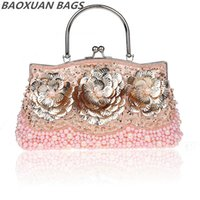 art in america - Hot beaded evening bags popular in Europe and America art flower beaded bag fashion women party purse B2B0