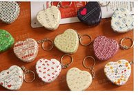 Metal Heart Zinc Alloy Heart-shaped Shape key chain heart-shaped box candy box joyful box Iron Box key chain pillbox Metal pillbox jewel case mixed