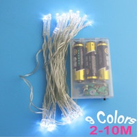 Wholesale NEW M M M M M LED String Mini Fairy Lights Battery Operated White Warm White Blue Yellow Green Purple Pink Christmas Lighting