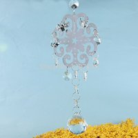 Wholesale 30mm Lighting Ball Snow Hanging Pendant DIY Window Suncatchers Crystal Chandelier Parts Home Decor