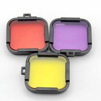 Wholesale Price Support GoPro Hero session Diving Filter Underwater Diving Filter for GoPro Hero4 Session Action Camera Yellow Red Purple