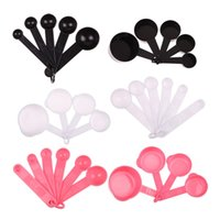 Wholesale New set Plastic Measuring Spoons Cups Measuring Sets Tools For Baking Coffee Spoons