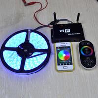 Gros-DC5-24V magique couleur de rêve RGB Contrôleur LED SPI Wifi Controller + RF molette tactile à distance (peut contrôlée par Smartphone)