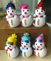 snowman decoration - 6 Christmas decorations Classical Christmas Snowman Decoration Christmas Trees Decorated Snowman