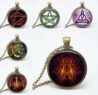 american gothic photo - Retail dragon Glass pendant necklace vintage bronze chain choker Gothic art Photo Glass Dome choker jewelry Necklaces