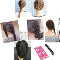 Precio de Estilos de trenzar el pelo de la muchacha-100 PCS Moda Roller Herramienta trenzadora Hair Braiding Con Magic torcedura del fabricante del bollo del pelo Styling Trenzadoras pelo para WomenGirls
