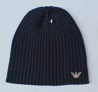 Wholesale HXF color men women warm wool hat Arma knitted hat