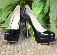 bc shoes - BC Women Black Patent Leather Point Toe High Heel Platform Pump Shoes in Party or Office