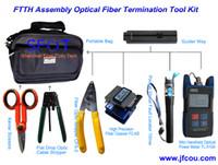 Wholesale FTTH Assembly Optical Fiber Termination Tool Kit with Fiber Cleaver FTTH Kit FTTH TooL Box set