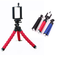 Wholesale Mini Flexible Octopus Tripod Mount Holder with Degrees Rotating Tripus For ALL Cell Phone Small Camera DHL Freeshipping