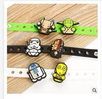 Wholesale 3 Colors PVC Wristband Bracelet star wars Darth Vader Death for Kids Toy Party Favor Stormtrooper Dolls Wristband Christmas Gifts R1430