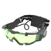 Wholesale Night Vision Glasses Night Vision Goggles with Flip out Blue LED Lights NO Adjustable Elastic Bands for A comfortable Fit