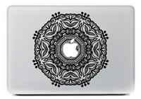 Wholesale 2015 D Fashion Stickers Classic Flowers Vinyl Decal For Macbook Sticker Inch Pro Air Retina Laptop skin Free Shippin