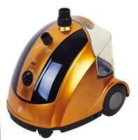 Wholesale Vertical steamer garment Steam Iron for clothes home machine Portable golden L Teflon backplane continuous output irons
