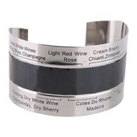 Wholesale Stainless Steel Wine Bottle Thermal Band Thermometer Cuff Style for Kitchen Bar