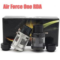 air force ring - Air Force One RDA Mod Rebuildable Dripping Atomizer Huge Vape Wide Bore Drip Tip Top AFC Ring Vaporizer Fit Box Vapor Mods DHL