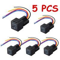 Wholesale 5pcs V A Amp Car Auto Relay Socket Wire Pin P Automotive Harness