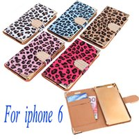 For Apple iPhone Leather White New 5 Colors Fashionable Wallet Leopard Case Flip Leather Cover with Card Holder Strap for Apple iPhone 6 Blue PA1592