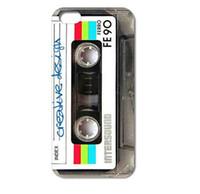 cassette case - Retro Vintage Cassette tape Design Hard Plastic Mobile Protective Phone Case Cover For Iphone S S C plus