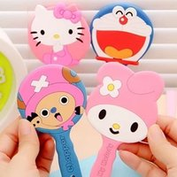 Wholesale Cartoon style series Portable MIRROR Makeup mirrors cosmetics mirros creative silicone awesome cute mirros New style charm makeup mirrors