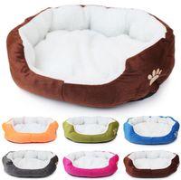 Wholesale Cashmere like soft warm Pet Cat Bed Pet Nest luxury Dog nest Luxury warm round for