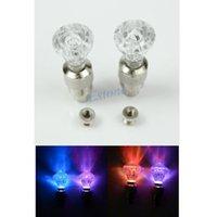 Wholesale 2pcs Skull Diamond Bike Cycling Car Tyre Spoke Valve Wheel Alarm LED Light Lamp