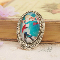 anime wedding girl - Anime Howl s Moving Castle Miyazaki Hayao Brooch for Couples Boy Girl Antique Silver Tone Cartoon Pins p003