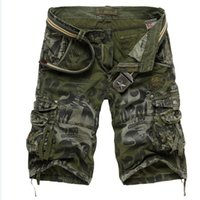 Wholesale Summer Camouflage Cargo Shorts Men Multi Pockets Overalls Army Camo Short Casual Loose Bermuda Masculina Mma Gym Running Shorts