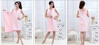 bath fasting - Hot sales Unisex Super Soft Microfiber Robes Wearable Towel Robe Sexy Spa Fast Dry Washclothing Wrap Towel Bathrobes for Women Pink