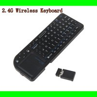 Wholesale Rii mini X1 Handheld G Wireless Keyboard Touchpad Mouse For PC Notebook Smart TV Black C1783
