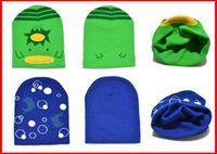 12-18 Months baby beanie hat knitting pattern - Children Crochet Autumn winter beanie knitted hat new Thickening Jacquard Pattern Baby sleeve cap