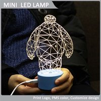 Wholesale Mini LED lamp LED Night Light Creative LED Baymax Guard Latest Products Receiving custom shapes Product Boxed