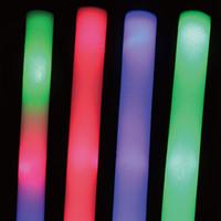 Juguetes de energía España-Energía del palillo de la iluminación de 100pcs / Lot LED los 40cm de las baterías para el partido de la ceremonia de las festividades de la Navidad de Víspera de Todos los Santos, palillos del resplandor de la noche y juguetes del LED