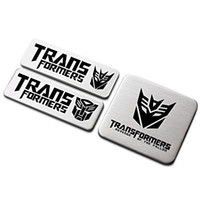 autobot car decal - Alluminium Alloy Transformers AUTOBOT Destron Car Stickers Decals Accessories Cartoon Car Body Fender D Metal Styling Decorations