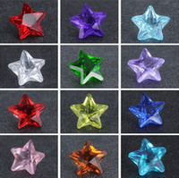 Cheap New crystal floating locket charms birthstones Mix 12 color 5mm pentagram glass 600 PCS lot