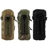 Wholesale 3pcs New Military MOLLE Tactical Travel Water Bottle Kettle Pouch Carry Bag Case Outdoor Free Drop Shipping