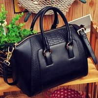 Wholesale Crocodile Pattern Ladies Leather Totes Polyester Fabric Trendy Party Handbags with Zipper Designer Womens Handbags for