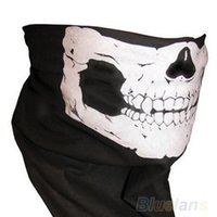 animal skull masks - 300pcs Halloween Cosplay Bicycle Ski Skull mask Half Face Mask Ghost Scarf Bandana Neck Warmer Skull Party Masks Home Gadgets