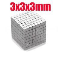 neo magnet - 3 mm x mm x3mm craft model super powerful strong rare earth ndfeb magnet neo neodymium n35 magnets block cube