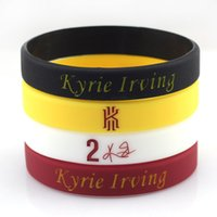 Wholesale 2015 Basketball Bracelet Rubber Wristband By Kyrie Irving Signed No Top Basketball Player Fans Souvenir Silicone Wrist Band