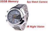 Built-in 32 GB impermeable reloj ocultos cámara de vídeo digital Mini videocámara DV DVR IR visión nocturna grabadora de voz