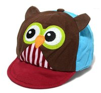 baby cricket - Hot sale new autumn cute owl kids cap hat patchwork baby cartoon owl cap infant lovely cricket cap for month BH0006