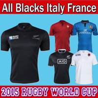 Wholesale New Zealand All Blacks RWC Rugby Jersey Best Quality all blacks world cup jerseys WCR Rugby Jerseys