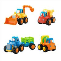 Wholesale Well made Run very fast Colorful kids toys anime friction car tractor bulldozers mixer dump truck Christmas gifts cheap LY