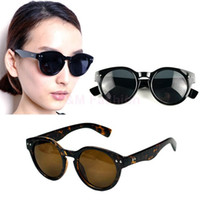 Cheap 2015 New Fashion Unisex Vintage Inspired Bold Circle Round Rivet Pattern Sunglasses Key-Hole 5634