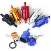 Wholesale FIVE COLORS CNC ALLLOY FUEL FILTER FOR MOTORCYCLE DIRTBIKE ATV Go Kart CRF XR KLX KX DROP SHIPPING