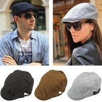 berets - Adult Solid Golf Caps Unisex Newsboy Cabbie Men Women Duckbill Flat Berets Hat HIP