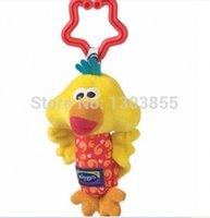 Wholesale Hot Sale Kids Baby Soft Toy Animal Handbells Rattles Bed Stroller Bells Developmental Toy yellow duck