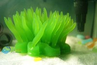 Wholesale Aquarium Artificial soft Green Coral For Fish Salt Fresh Tank Ornament Ak551