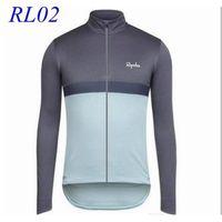 Wholesale Rapha Cycling Jerseys Long Sleeves Winter Thermal Fleece Bike Wear Comfortable Breathable Hot New Rapha Jerseys